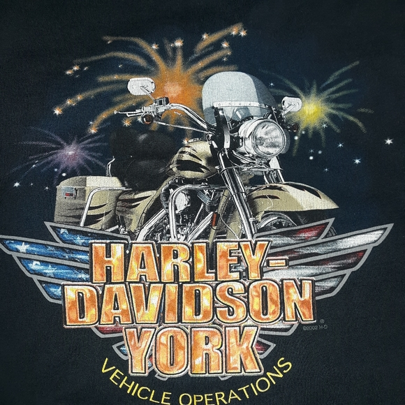 Vintage Harley Davidson York Pennsylvania Longsleeve Shirt Size Large
